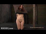 Gagged hottie gets lusty torturing