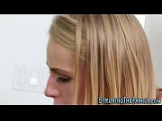 Sexy stepteen gets facial