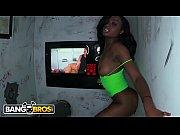 BANGBROS Young and Beautiful Ebony Babe Sucking Dicks In Glory Hole Loads