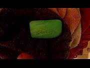 Cumming on soap