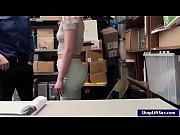 blonde shoplifter screwed in lp office.