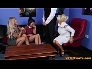 Glamorous british femdoms tugging their sub Thumbnail