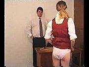Spanking naked bottom