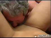 Slender dilettante rides old dick