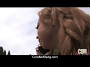Swallowing sperm makes her horny 5