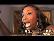 Ebony babe sucking a group of horny white dudes 10