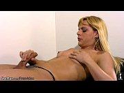 feminine t-girl teases her milky tits and jerks.