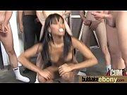 Ebony whore rides cocks and swallows sperm 10