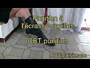 Punition &agrave_ l'_&eacute_crase couilles CBT