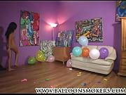 teen pops balloons nude