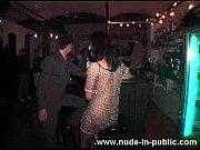 wild girl dancing nude at the bar