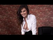 downblouse bigboobs brunette secretary white open shirt big cleavege