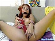 Redhead Girl Likes Dildo Masturbation On Webcam