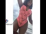 Candy Flow cuero dominicano en traje de ba&ntilde_o y gran culo