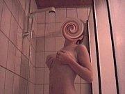 Cute teen takes a shower