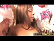 Hot ebony bukkake gangbang 7