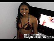 Hot ebony teen Diamond at the gloryhole Thumbnail