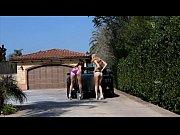 FantasyHD Two girls do sex car wash orgy