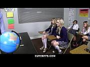 Cute High School Best Friends Sex Ed Class Orgy