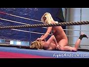 Lesbian babes wrestling naked