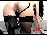 Dark Haired MILF Big Toy Anal Masturbation Chattercams.net
