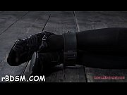 Restrained serf receives lusty torture for her naughty love tunnel