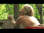 Tattooed beauty dominated outdoors Thumbnail