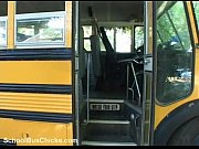 schoolbus shy girl gets a load