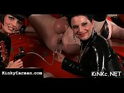 Naughty dominatrix tortures slave'_s balls on kinkycarmen.com