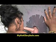 ebony testing a gloryhole blowjob 8