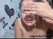 sloppy deepthroat blowjob by latina