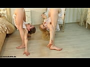 contortionists zlata and tanya in bed