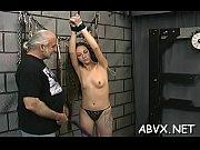 Harsh treatment on older cookie in hot bondage xxx