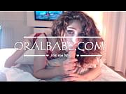 Curly hair girl sucking dildo like a pornstar ORALBABE.com