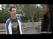 Black Gay Muscular Man Seduces Teen White BOy For A Good Fuck 04