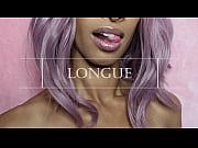 thumb longue long tongue lips mouth fetish lollipop sucking