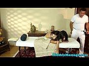 deepthroating babe gagging on masseurs cock