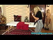 Massage loving babe banged in missionary