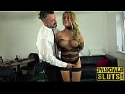 Fishnets bombshell Joanna Bujoli anally rammed with big cock