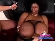 big-black-woman-with-afro-gets-cum-on-huge-tits-LOW