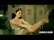 Sexy legs cum show on webcam