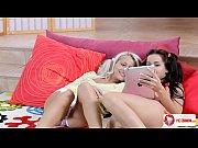 Blonde Brunette Lesbian Babes HD Thumbnail