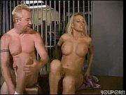Hot blonde fucks a prisoner in her prison