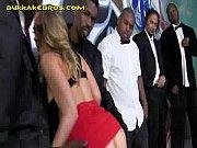 Blonde Girl Has to Service Black  Men