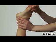 cute girl stretches spread vulva and.