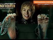 Cersei Lannister feet soles tickling Lena Headey