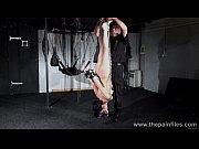Suspended bondage slave Elise Graves tortured to tears and enduring harsh domina