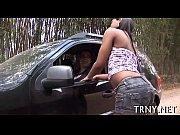 Cute t-girl gets long ass ride
