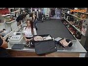 Latina stewardess fucked at the pawnshop