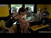 Euro beauty anal banged in public bar Thumbnail